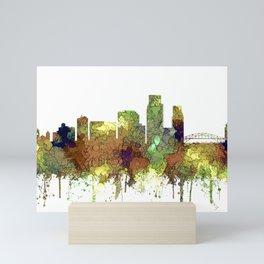 Corpus Christie, Texas Skyline SG - Safari Buff Mini Art Print
