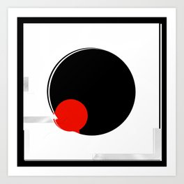 black and white meets red version 17 Art Print