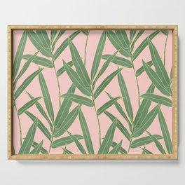 Elegant bamboo foliage design Serving Tray
