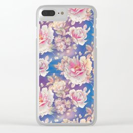 Testing The Flowers. Clear iPhone Case