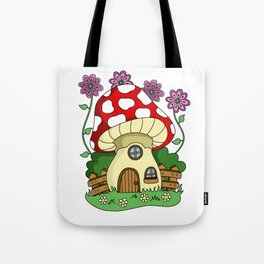 Toadstool Fairy House Tote Bag