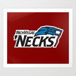 NichVegas 'Necks Full Logo Art Print