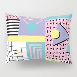 Memphis Pattern 27 - 80s - 90s Retro / 1st year anniversary design Pillow Sham