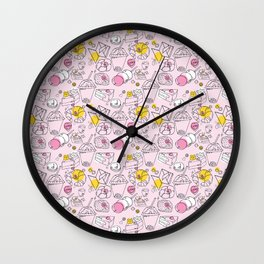 Japanese treats pattern Wall Clock