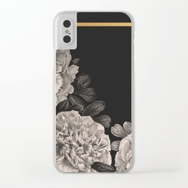 Flowers on a winter night Clear iPhone Case