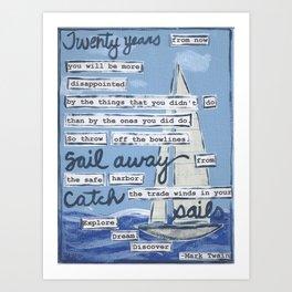 Sailing... Art Print