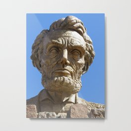 Head of Lincoln on Lincoln Highway Metal Print