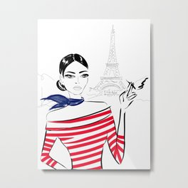 French Girl Metal Print