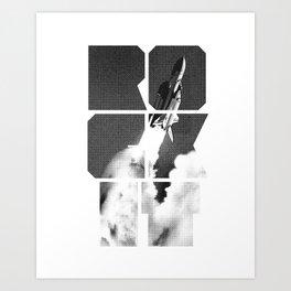 ROCKIT (Black on White) Art Print