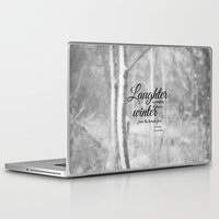 les miserables Laptop & iPad Skins featuring Les Miserables Quote Winter by KimberosePhotography
