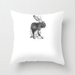 Japanese jackalope Throw Pillow