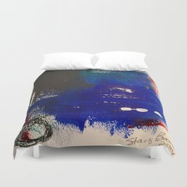 Blue is the New Black original painting by Stacey Brown Duvet Cover