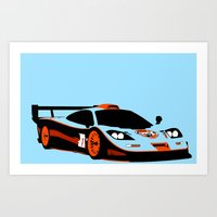 f1 Art Prints featuring F1 GTR by Arch Duke Maxyenko
