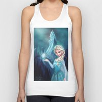 frozen elsa Tank Tops featuring Elsa Frozen by This Is Niniel Illustrator