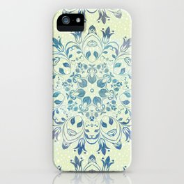 green mandala design iPhone Case