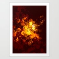 gold dots Art Prints featuring Dots by Eponine
