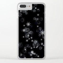 Falling snowflakes. Clear iPhone Case