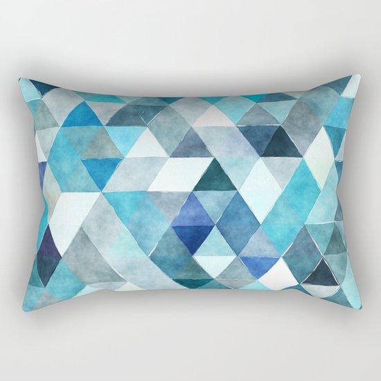 Retro Triangles Pattern 01 Rectangular Pillow