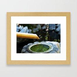 Bamboo Foutain Framed Art Print