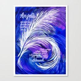 angel quote Canvas Print