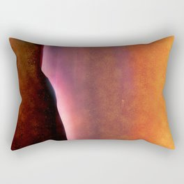 Copper, Pink and Orange Abstract Rectangular Pillow