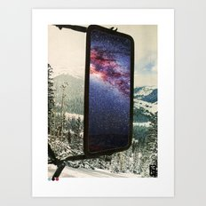 cold-space (a mixture of elements) Art Print