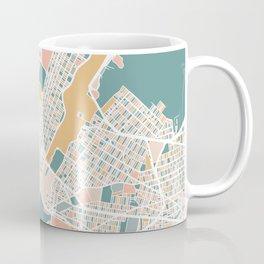 Manhattan New York Map Art Coffee Mug
