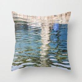 Reflecting Blues Throw Pillow