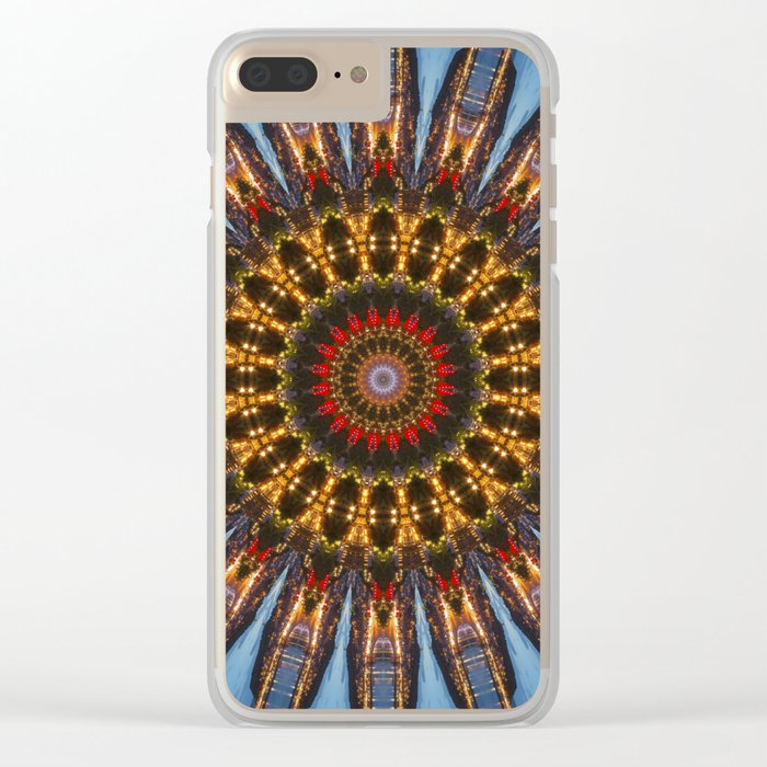 Kaleidoscope Coast at Night Clear iPhone Case