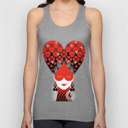 The queen of hearts Unisex Tank Top