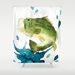 Bass Fishin' Shower Curtain