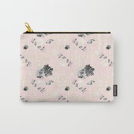 New Romanticism in Pale Coral Carry-All Pouch