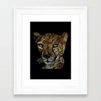 cheetah Framed Art Prints featuring cheetah  by JosephMills