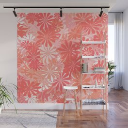 LIVING CORAL - FLORAL ASSORTMENT - COLOR OF THE YEAR 2019 Wall Mural