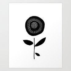 One Black Flower Art Print
