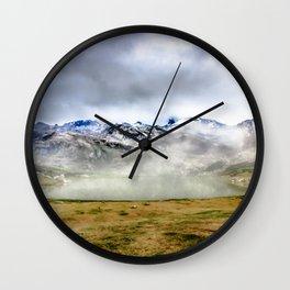 Lago Ercina in National park Picos de Europa Wall Clock