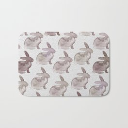 Watercolor Bunnies 1M by Kathy Morton Stanion Bath Mat