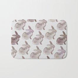 Watercolor Bunnies 1M by Kathy Morton Stanion Bath Mat