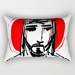 Jesus Christ Face Rectangular Pillow