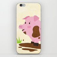 pig iPhone & iPod Skins featuring Pig by Claire Lordon