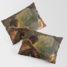 Christoffer Wilhelm Eckersberg - Ulysses Fleeing the Cave of Polyphemus - Digital Remastered Edition Pillow Sham
