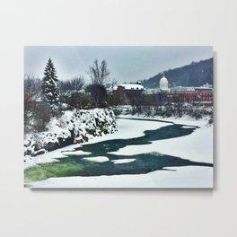 Winooski in Winter One Metal Print