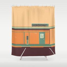 Desert Laundromat Shower Curtain