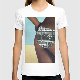 The People's History of the United States (Beach Edition) Vintage Collage T-shirt