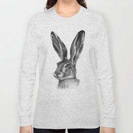 Cute Hare portrait G126 Long Sleeve T-shirt
