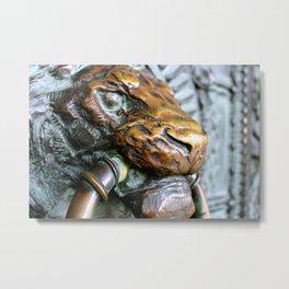 This Lion Knocks - Montmarte - Paris France Metal Print