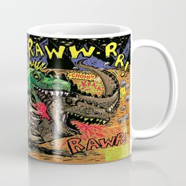 Space Chick & Nympho: Vampire Warrior Party Girl Comix #1- Tyrano the Dinosaur-God  in Comic Page  Coffee Mug