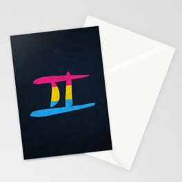 Pansexual Pride Flag Gemini Zodiac Sign Stationery Cards