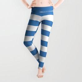 CVS0088 Azure Blue and White Stripes Leggings