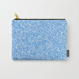 Spacey Melange - White and Dodger Blue Carry-All Pouch